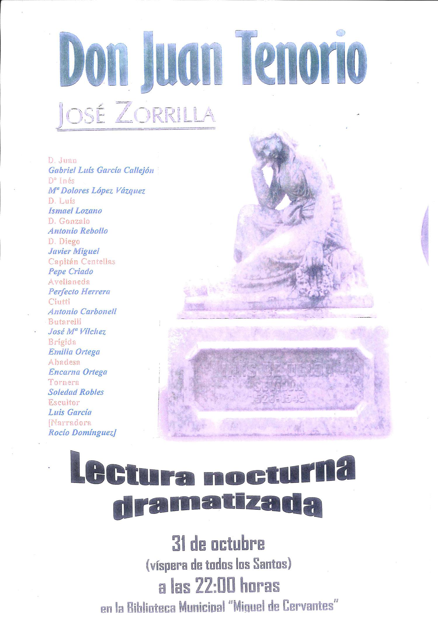 Lectura nocturna de \'Don Juan Tenorio\' en la Biblioteca para la ...
