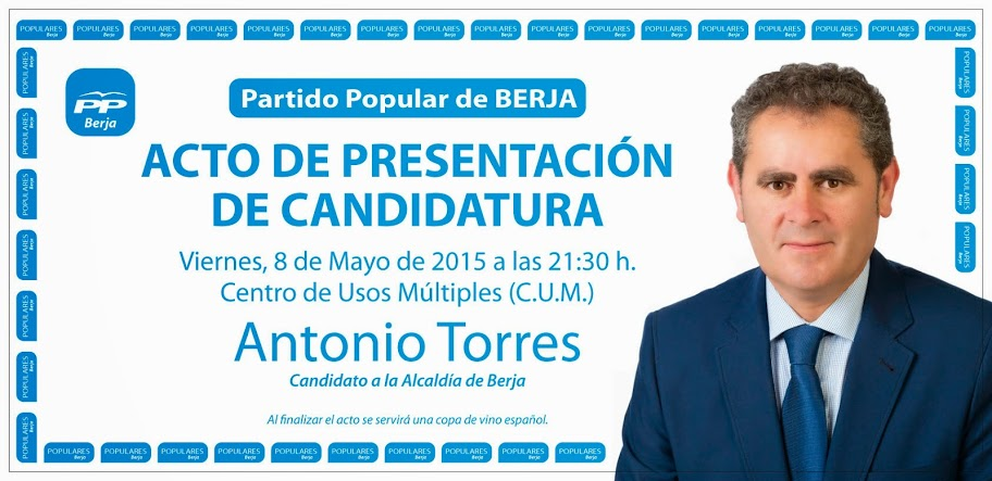 presentacion pp municipales cartel berja