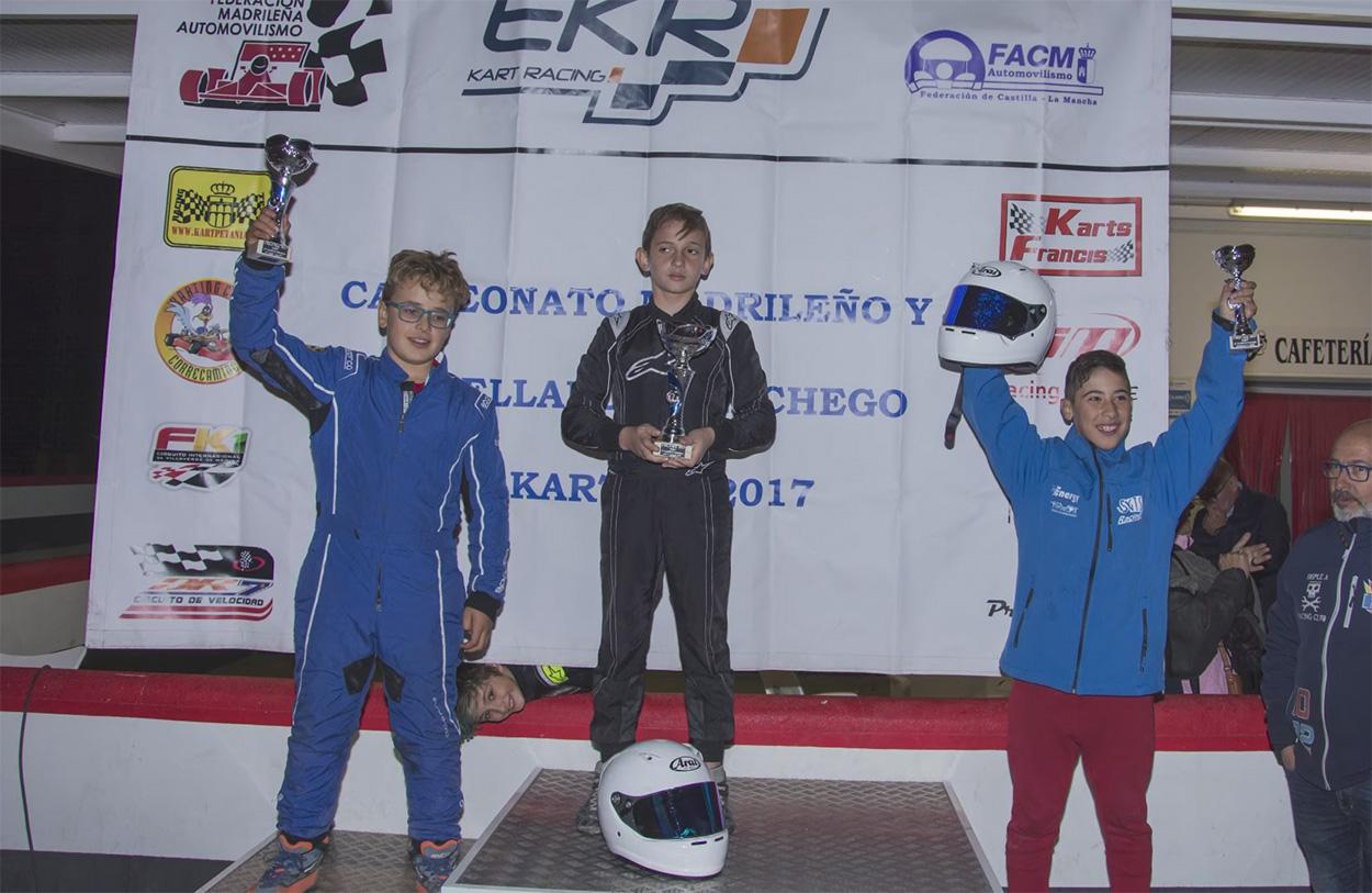 El virgitano Hugo García, tercero en el Campeonato Madrileño de Karting