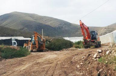 Reparacion de caminos rurales en Berja